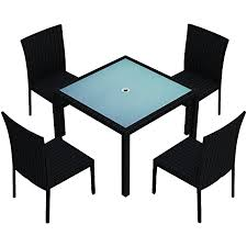 Low to high sort by price: Amazon Com Harmonia Living Urbana 5 Piece Square Dining Set Coffee Bean Table Chair Sets