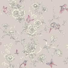 Grey wallpaper, Grey floral wallpaper ...