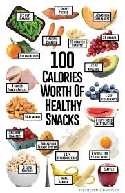 Snacks Calories Chart How Much Of These Healthy Snacks Rack Up To 100 Calories