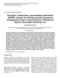 Pdf) Strengths, Weaknesses, Opportunities And...
