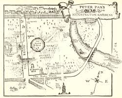 peter pan s map of kensington gardens