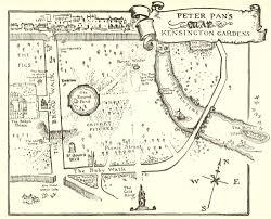 peter pan s map of kensington gardens