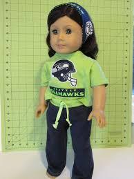 fan girl dolls. seattle seahawk american girl sportswear by luvmydollclothes fan dolls