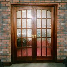 sapele pair of doors 15 pane with curved top rails