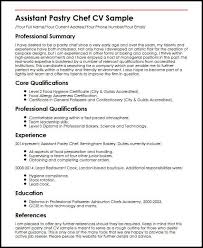 Pastry Cook Job Description Resume