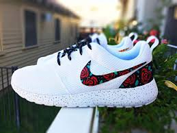 Nike Roshe Run Cool Designs Custom Nike Roshe Run Rose Design Floral Custom Roshe Rose