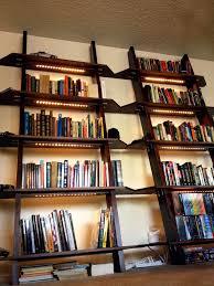 lighting for bookshelves. Introduction: Leaning Bookshelves With LED Lighting For G