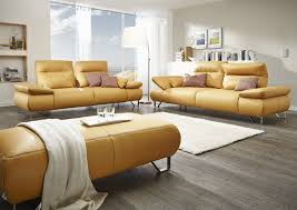 Wohnlandschaft In Gelb Wohnideen 3er Sofa