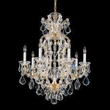 schonbek maria theresa 8 light crystal chandelier crystal chandeliers chandeliers