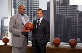 suits harvey specter office. Charles Barkley, Gabriel Macht As Harvey Specter -- (Photo By: Shane Mahood Suits Office
