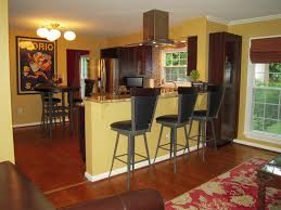 black seat applied the wooden floor kitchen wall paint colors with maple cherry cabinets red rug