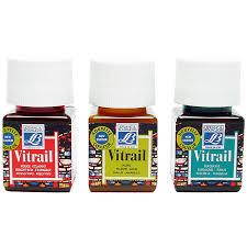 Lefranc Bourgeois Vitrail Glass Deco Paint 50ml Bottle Color Chart