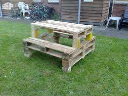Pallets Picnic Table Lounges & Garden SetsPallet Desks & Pallet Tables