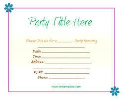invitation party templates unique birthday party invite template for party invitation party