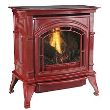 ashley hearth s 31 000 btu vent free natural gas stove red enameled porcelain cast iron