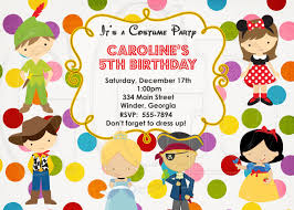 Magical Costume Party Invitation Dressup Party Dress Up