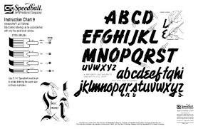 Calligraphy Strokes Chart Instruction Chart 9 Handcraft Lettering Bold Gothic