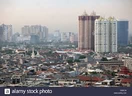 Jakarta, Indonesia, vista città della capitale Giacarta Foto stock - Alamy