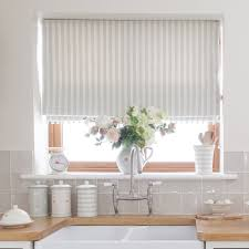 White Kitchen Uk Country Blind Inspiration Sea Ivory Cambridge Stripe Blinds