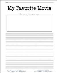 first grade writing prompts for winter narrative writing  movie essay topics k 2 my favorite movie printable writing prompt worksheet