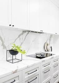 14 White Marble Kitchen Backsplash Ideas You'll Love | CURATED ...