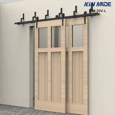 kin made mm 20v l byp double panel sliding barn door hardware arrow shape roller in doors from home improvement on aliexpress alibaba group