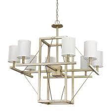 8 light washed gold chandelier