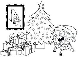 Small Picture Spongebob Squarepants Happy Christmas Coloring Page Boys
