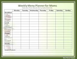 Free Weekly Schedule Template Excel 009 Template Ideas Free Weekly Meal Planner Fascinating
