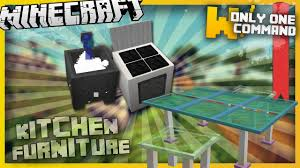 Minecraft Furniture Kitchen Minecraft Kitchen Furniture With Only Two Command Blocks Youtube
