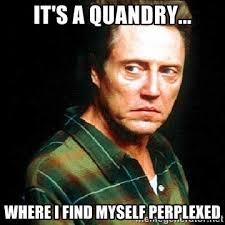 It's a quandry... where I find myself perplexed - Christopher ... via Relatably.com