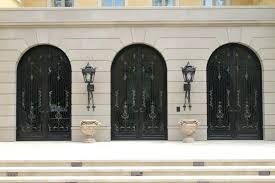 craftsman double front door custom front doors french luxurious wrought iron glass entry craftsman