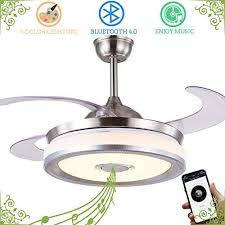 retractable ceiling fan with light and