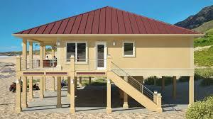 Floor Exterior Rendering Of Jacobsen Home Model Tnr Raised On House Plans On Stilts