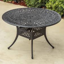 rosedown 48 inch round cast aluminum patio dining table by