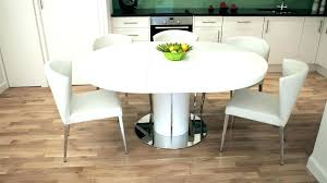 6 piece round dining set round dining table for 6 white gloss 4 6 extending dining