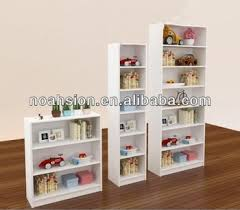 fashion white wooden kids bookcases children bookshelf