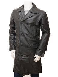 men s black leather trench coat ashton alternative