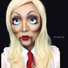 wooden doll make up