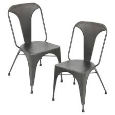 industrial metal dining chairs. austin industrial dining chair metal/gray (set of 2) - lumisource metal chairs