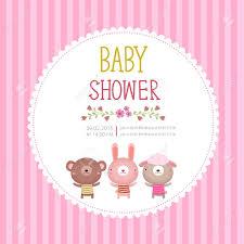 Baby Shower Invitation Cards Illustration Of Baby Shower Invitation Card Template On Pink