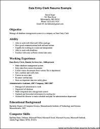 Free Sample Resumes Classy Samples Of Clerical Resumes Clerical Resume Template Luxury Clerical