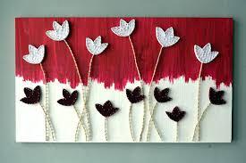 string art flower wall woodcraft fl wood woodland master bedroom 3d items