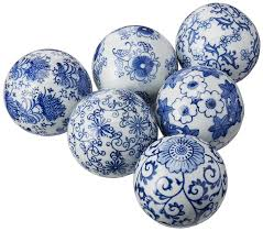Decorator Balls Amazon Oriental Furniture 100 Blue White Decorative 19