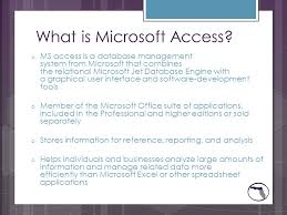 What Is Microsoft Access Best Uses Of Microsoft Access Lauren Lewis What Is