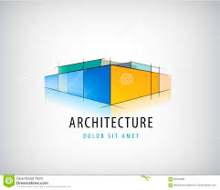 Plan Logo Design Vector Abstract 3d Architecture Sign Building Plan Logo
