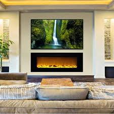 century heating electric fireplace insert wall realistic adjule flames enjoy no heat best