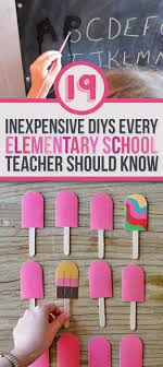 19 Simple DIYs Every Elementary School Teacher Should Know. Plus a crazy  popsicle stick activity.
