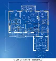 architecture blueprints. Architectural Blueprint Background. Vector Architecture Blueprints L
