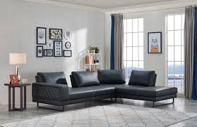your bookmark products 1 665 00 divani casa signal classic transitional contemporary dark blue leather sectional sofa